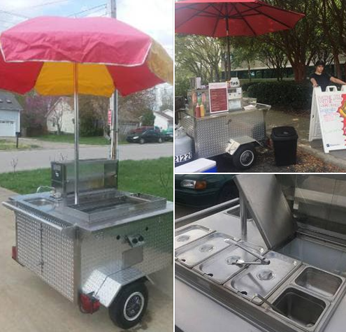 This used hot dog cart for sale in Knoxville has everything you need to get started!